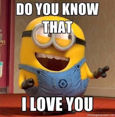 Do you know that I love you minion meme